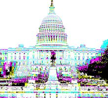 US Capitol Building in CMYK by IdleAmusement