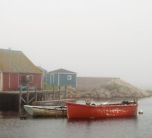 Boats In Peggy's Cove by Gary Chapple