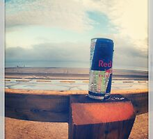 RedBull Can on Beach by vincepro76