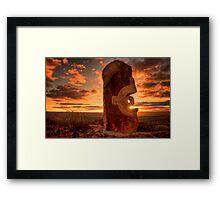 Broken Hill - Living Desert sculptures Framed Print