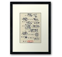Wonderful Framed Print