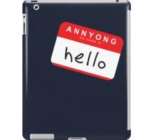 Hello! Annyong! iPad Case/Skin