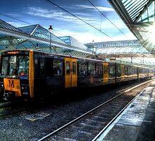 Tyne & Wear Metro At Tynemouth Station by Andrew Pounder