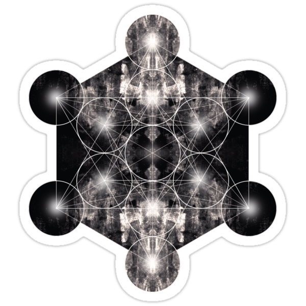 Metatron's Cube grey by filippobassano