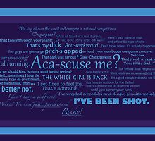 Pitch Perfect Quotes Poster -  PURPLE by leishmania