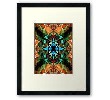 Abstract Inkblot Pattern Framed Print