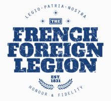 French Foreign Legion - Honour and Fidelity blue by FFLinfo
