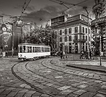 Downtown Tram by Roberto Pagani