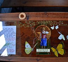 Decorated Old School Desk At Tyneham... by lynn carter