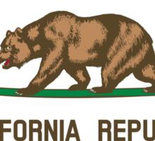 Surfing California Bear Sticker