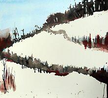 Mount Royal #5, Montreal, watercolour by Edith Dora Rey