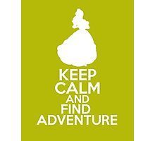 Keep Calm and Find Adventure (Belle, Beauty and the Beast) Photographic Print