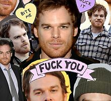 Michael C. Hall (Beard Collage) by Crystal Friedman
