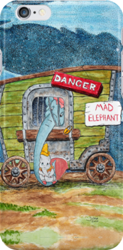 Dumbo being rocked by his mother by ArtbyJoshua