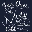 Misty Mountains White Distressed by Leah Price