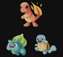 Kanto Starters - New (No Outline) by DanSoup