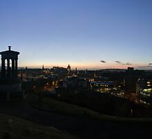 Auld Reekie, Edinburgh Nightfall by Miles Gray