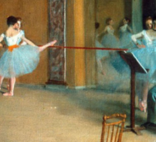 Edgar Degas - Rehearsal of the Scene Sticker