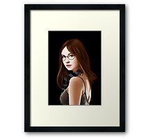 Dr Who's Amy Pond Framed Print