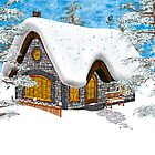 Winter Cottage by Vac1