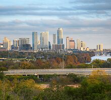 Austin Texas Images - The Austin Skyline from the Zilker Clubhouse in Late November by RobGreebonPhoto