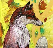 Sitting Fox by Lynnette Shelley