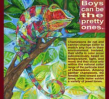 Up on the catwalk (Panther chameleon) - CARD by Gwenn Seemel
