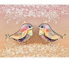 Exotic Peach Lovebirds Photographic Print