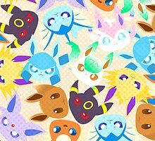 Eevee Evolutions by ravefirell