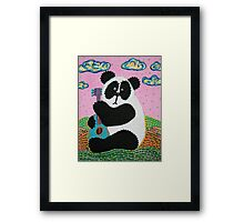 Panda Song Framed Print
