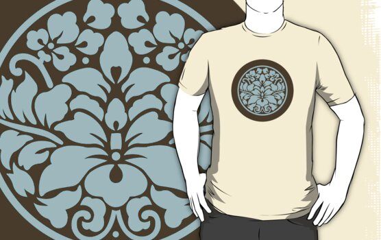 Japanese Crest Style Lotus by mingtees