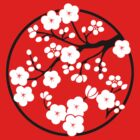 Plum Blossoms - White by mingtees