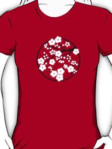 Plum Blossoms - White T-Shirt