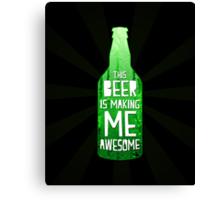 Typography - Beer Canvas Print