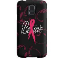 Believe - Breast Cancer Samsung Galaxy Case/Skin