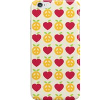 Apple and Orange - Peace and Love iPhone Case/Skin