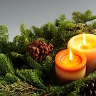 Christmas candles by Elena Elisseeva