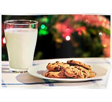 Milk and cookies for Santa Poster