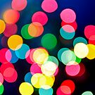 Blurred Christmas lights by Elena Elisseeva