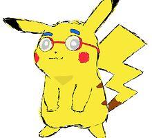 Pikachu Van Houten by geawje