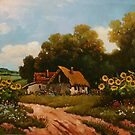 Stories from the old farm - sunflowers by dusanvukovic