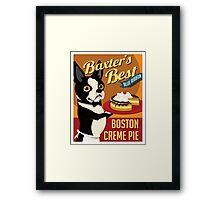 Boston Terrier Dog Baker retro poster design- original art  Framed Print