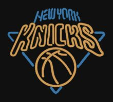 """HOOP DREAMS: NEW YORK KNICKS NEON LOGO"" by SOL  SKETCHES™"