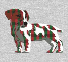 Jack Russell Terrier in plaid by rlnielsen4