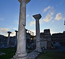 Sun set on Byzantine marble columns by neil harrison