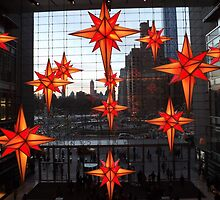Holiday Light Show, Holiday Stars, Time Warner Center, New York City by lenspiro