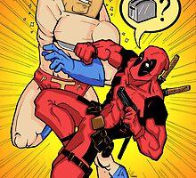 Powdered Toast Man vs. Deadpool by Killustration