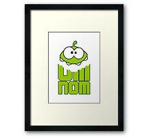 OMNOM Framed Print