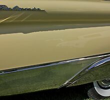 1957 Ford Galaxie Fender by Linda Bianic
