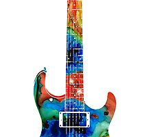 Colorful Electric Guitar 2 - Abstract Art By Sharon Cummings by Sharon Cummings